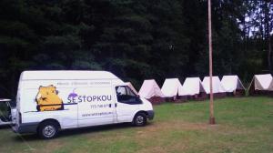 Převoz věcí z tábora